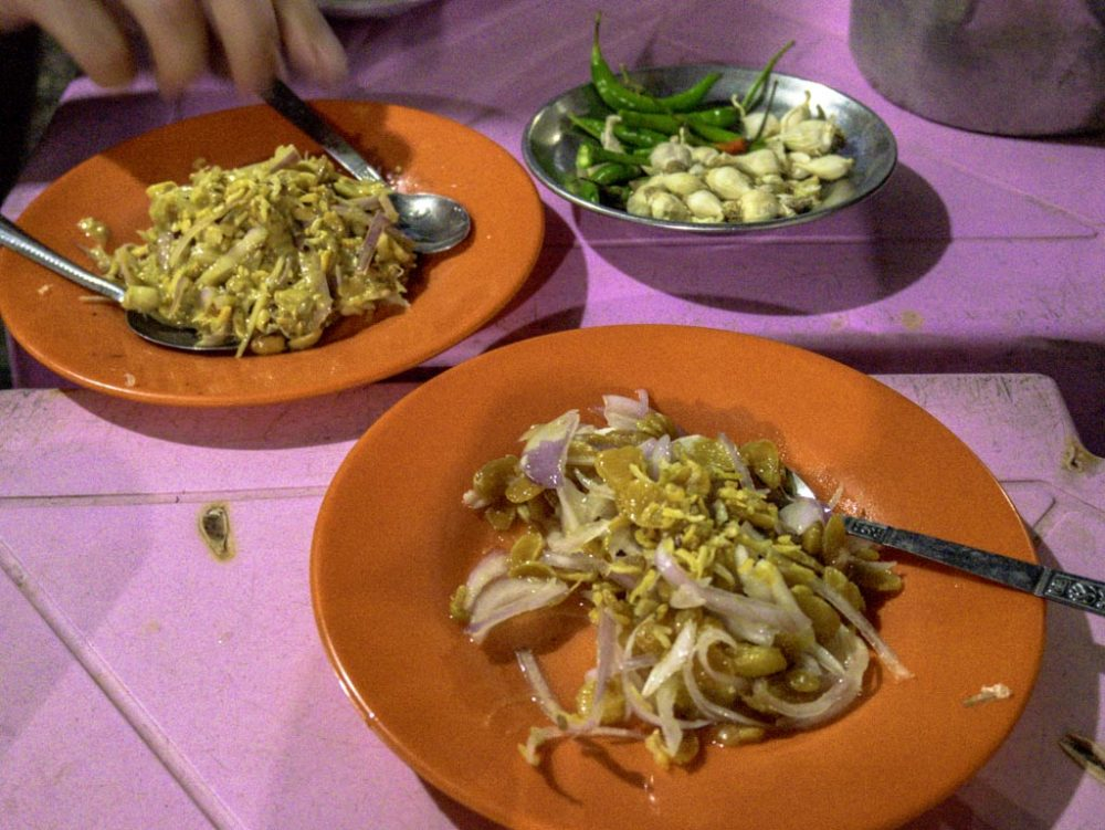myanmar salad stop saba street food tour yangon myanmar - laugh travel eat