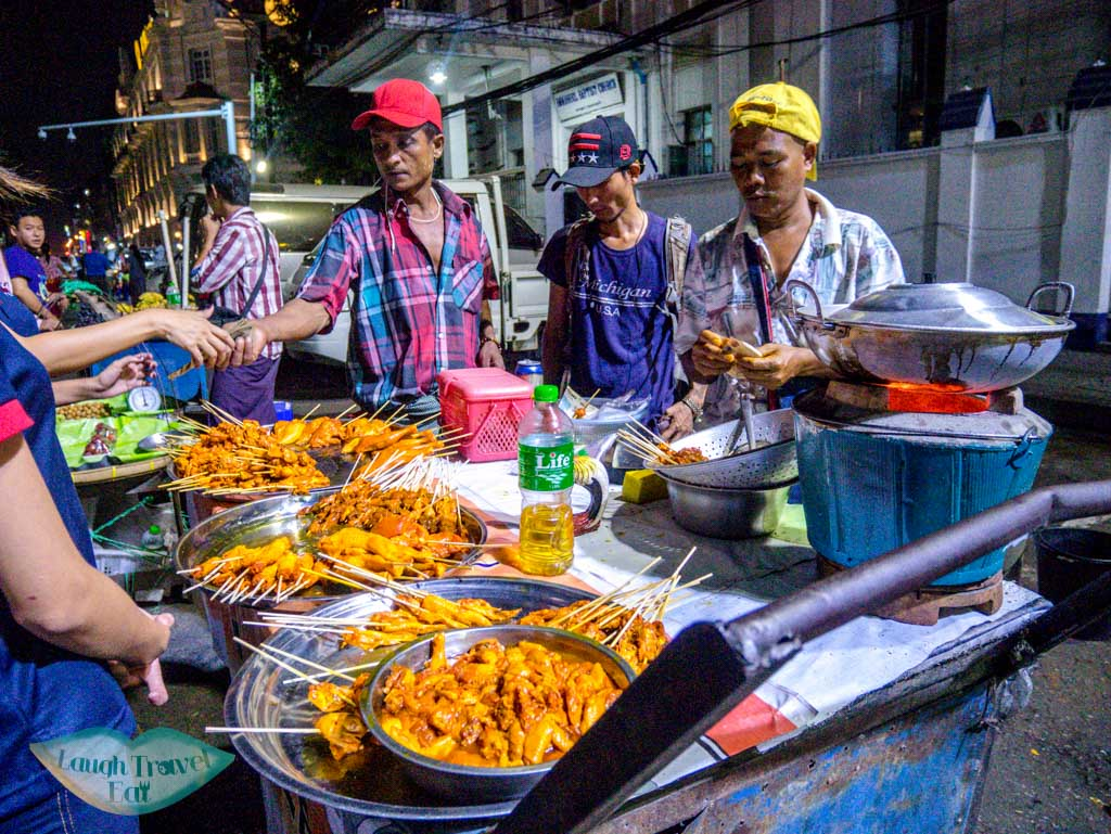 street food in yangon myanmar - laugh travel eat