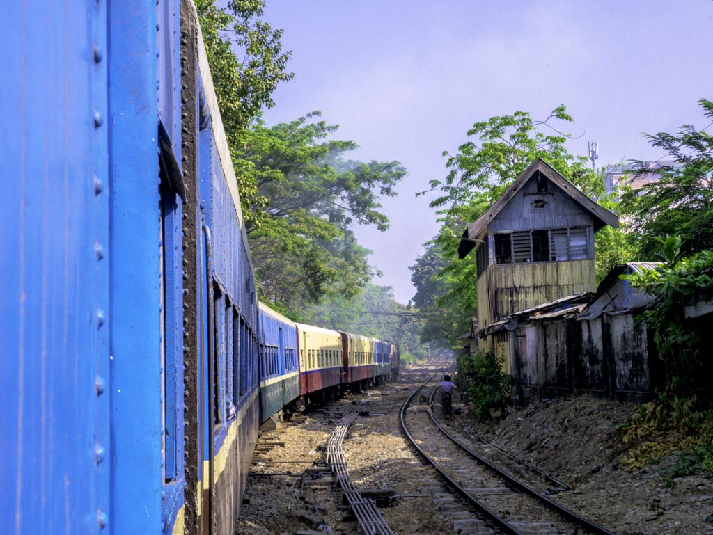 tracks of circle train yangon myanmar - laugh travel eat