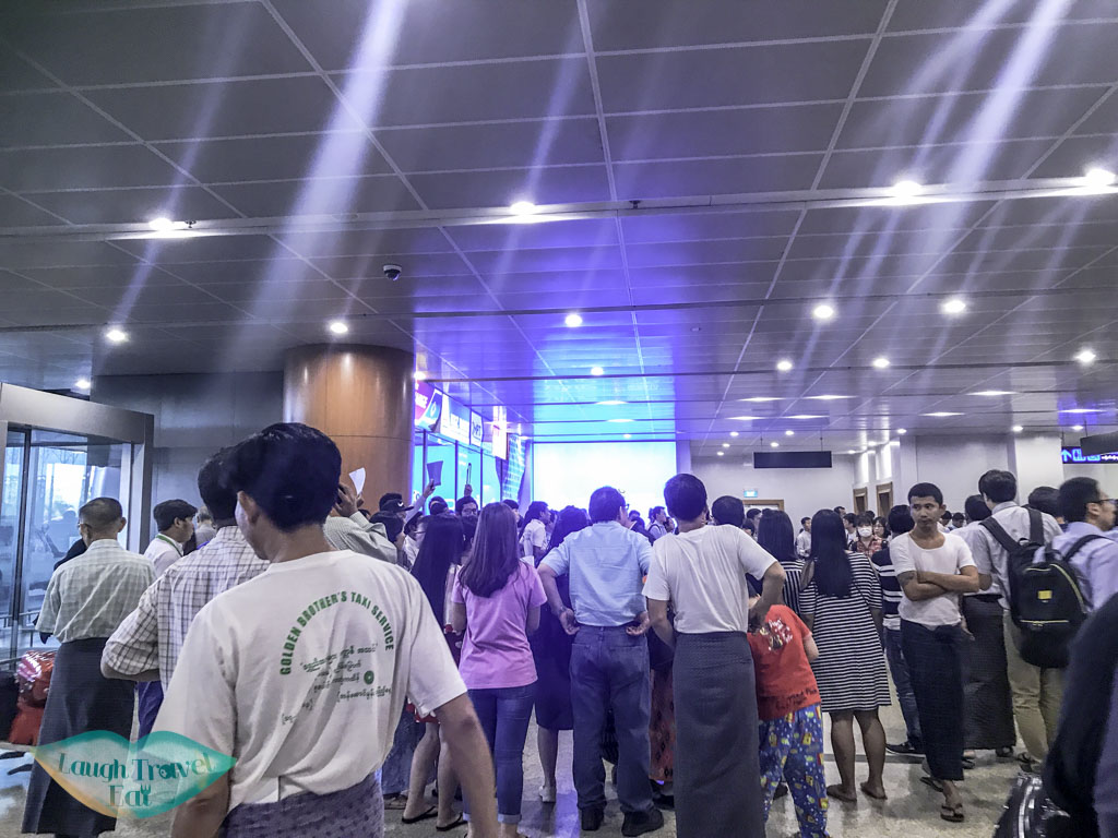 yangon airport arrival hall yangon myanmar - laugh travel eat
