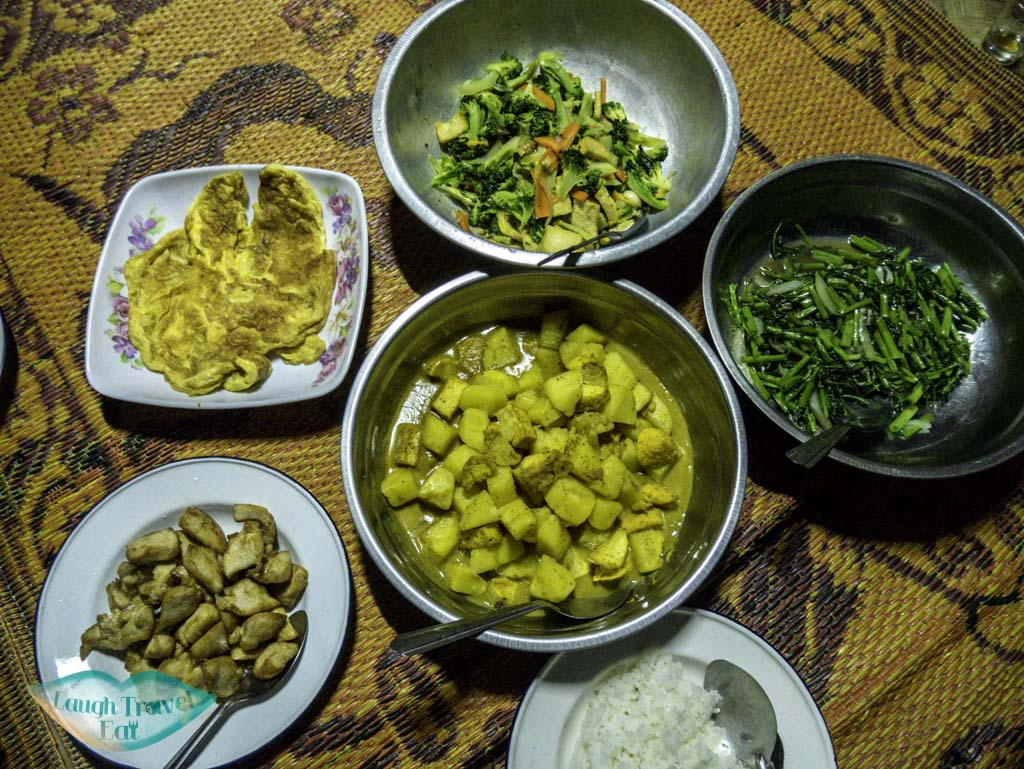 home-cooked-dinner-at-karen-village-chiang-mai-thailand-laugh-travel-eat