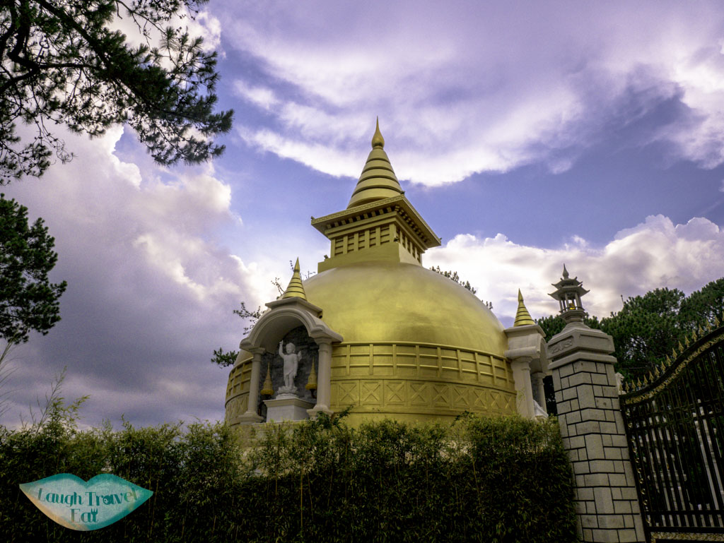 stupa-behind-Trúc-Lâm-Temple-Dalat-vietnam-laugh-travel-eat