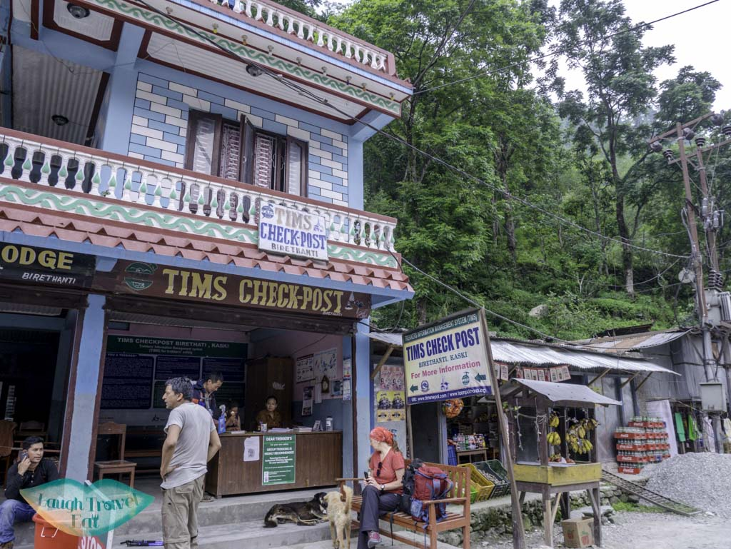 TIMS-check-point-at-Birethanti-Poon-Hill-Trek-Annapurna-Conservation-Area-Nepal-laugh-travel-eat
