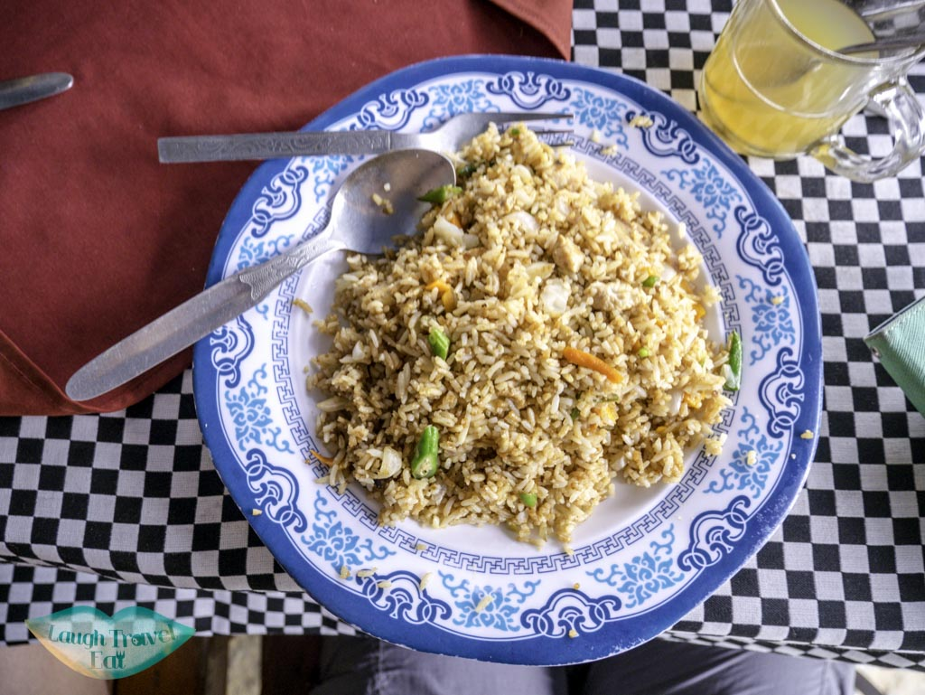 lunch-at-Birethanti-before-hike-Nepal-laugh-travel-eat