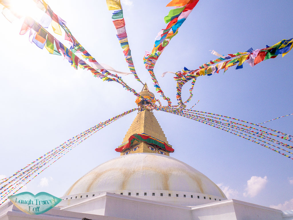 prayer-flags-Boudhanath-Stupa-Kathmandu-Nepal-laugh-travel-eat