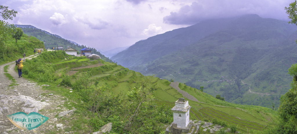 rice-terrace-panorama-Poon-Hill-Trek-Annapurna-Conservation-Area-Nepal-laugh-travel-eat