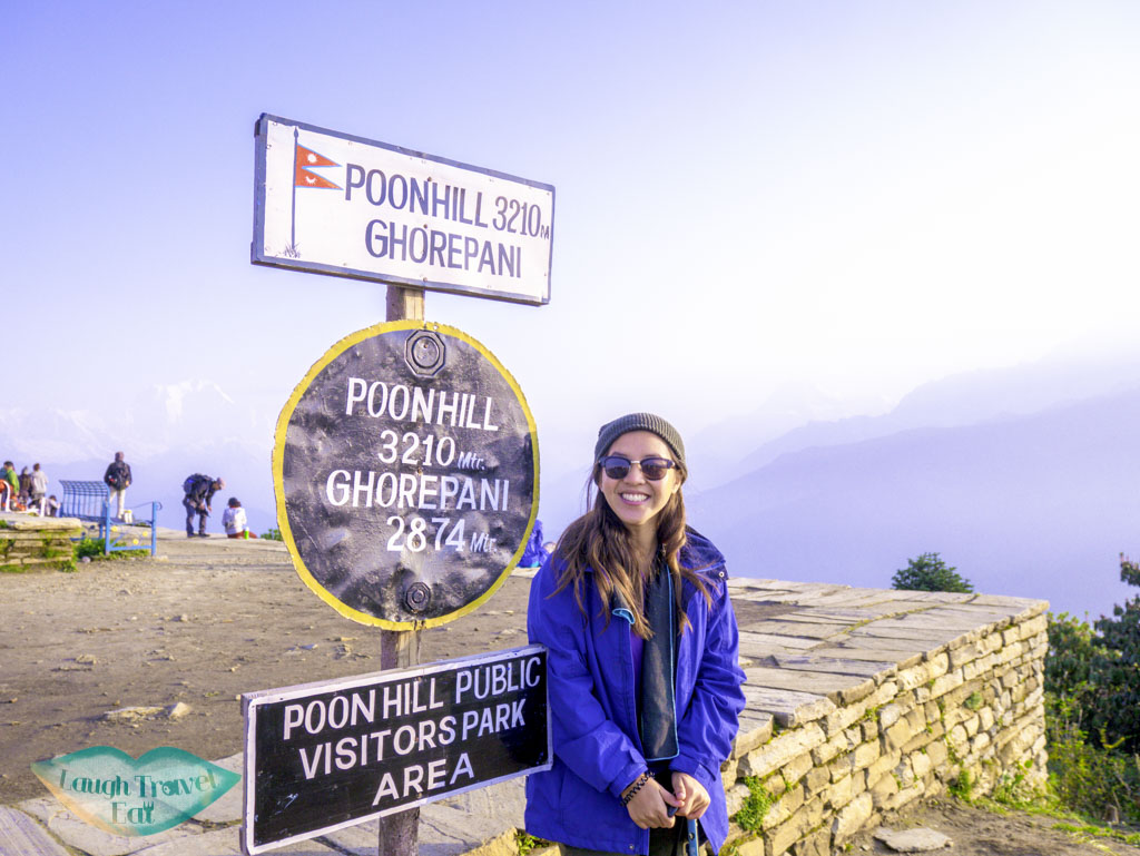 sign-Poon-Hill-Ghorepani-Poon-Hill-Trek-Annapurna-Conservation-Area-Nepal-laugh-travel-eat