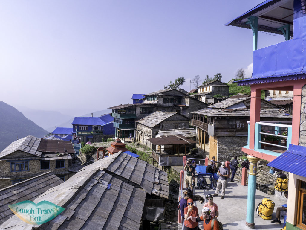 view-from-guesthouse-at-ulleri-Poon-Hill-Trek-Annapurna-Conservation-Area-Nepal-laugh-travel-eat