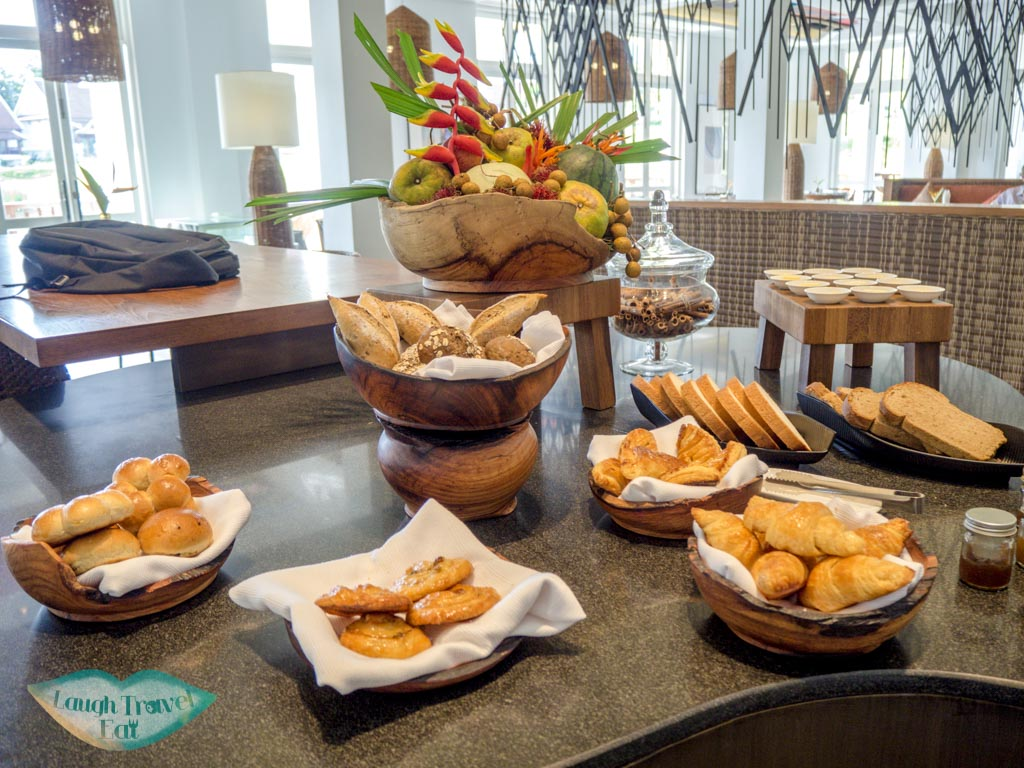 bread and pastries at pullman luang prabang laos - laugh travel eat