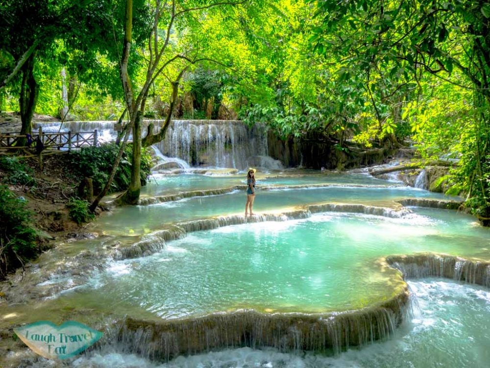 kuang si waterfall luang prabang laos - laugh travel eat