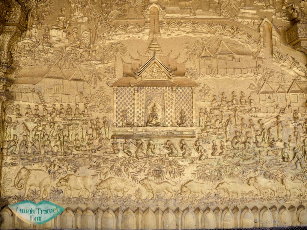 legend of vessantara on wat mai luang prabang laos - laugh travel eat