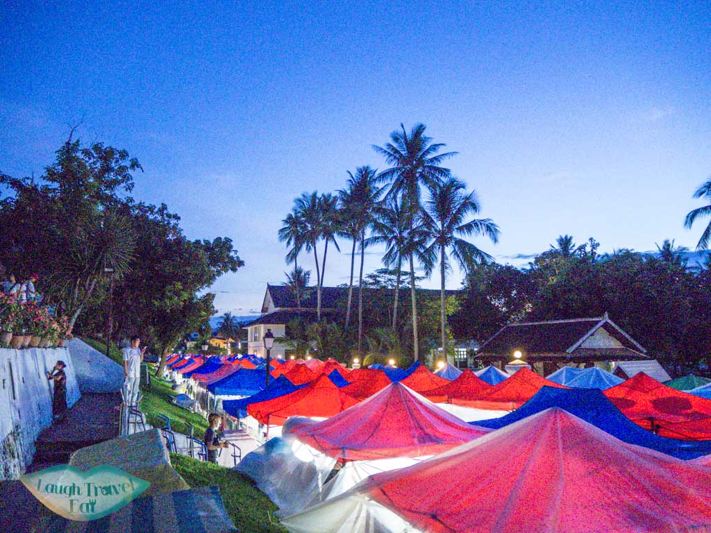 night market luang prabang laos - laugh travel eat