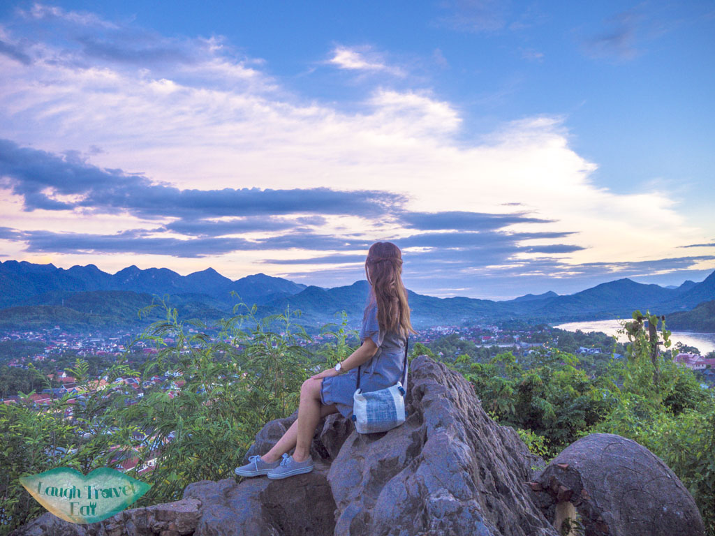 photo spot on mount phousi luang prabang laos - laugh travel eat