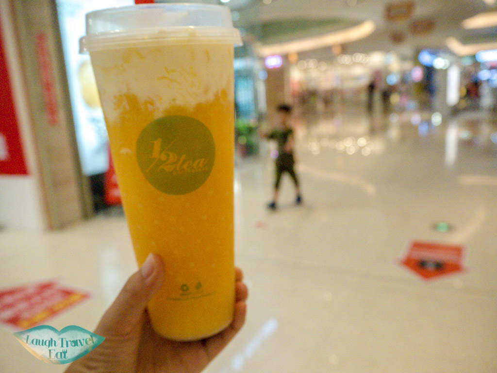 mango-cheese-cap-tea-half-tea-timesquare-mall-qingyuan-china-laugh-travel-eat