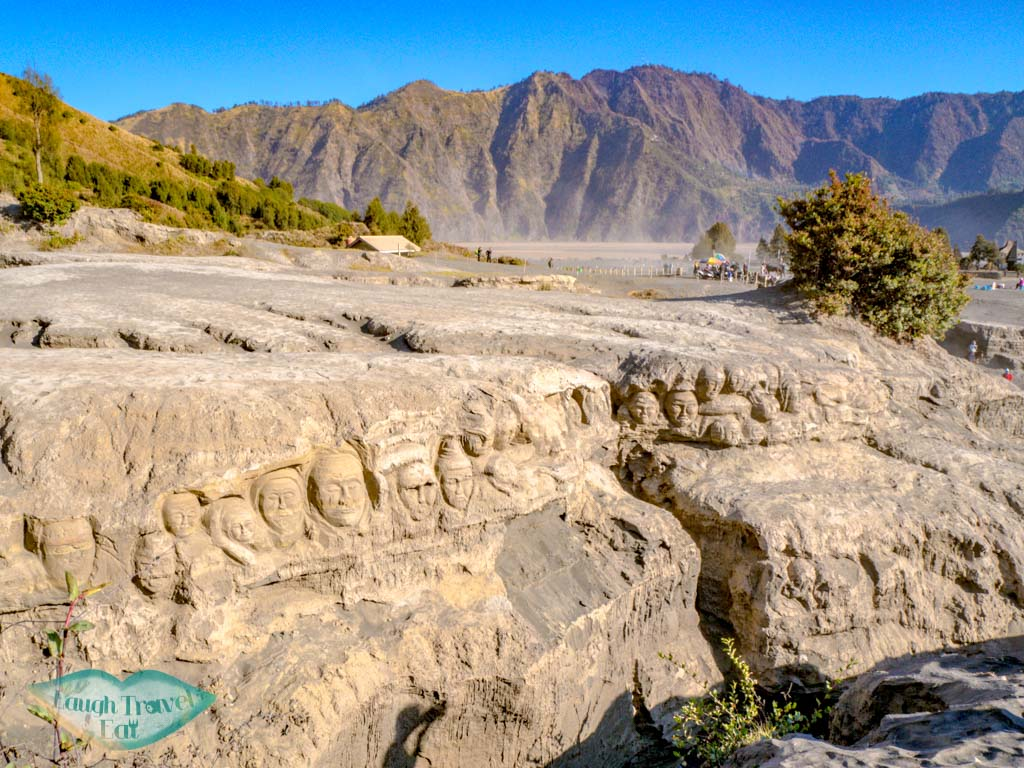 carved-faces-mount-bromo-java-indonesia-laugh-travel-eat
