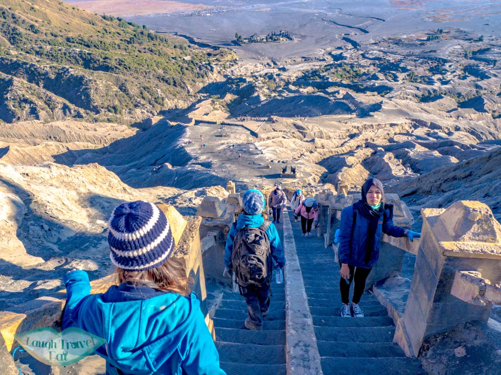 stairs-going-up-mount-bromo-java-indonesia-laugh-travel-eat