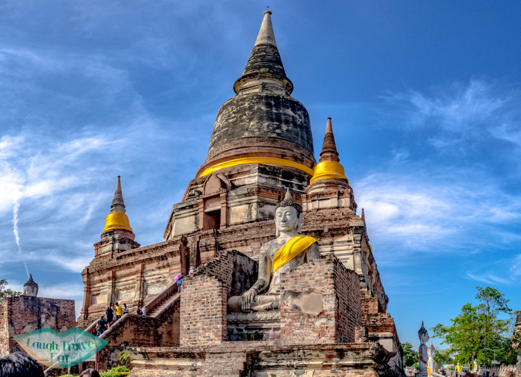 front-of-Wat-Yai-Chai-Mongkhon-Ayutthaya-thailand-laugh-travel-eat
