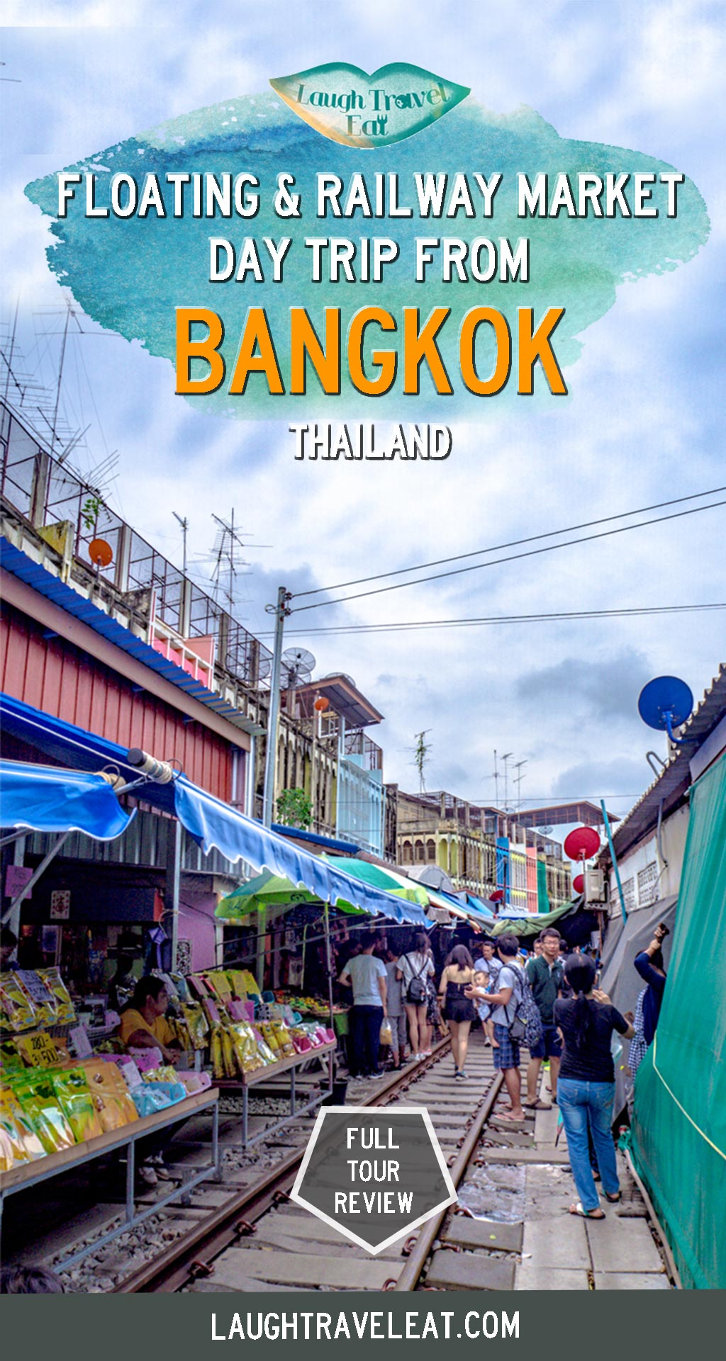 One of the most popular day trips from Bangkok is the floating market and the railway market. While there's only one railway market - the Maeklong Railway Market. Combine it with a visit to Amphawa Floating Market on a day trip and here's what a tour looks like: #bangkok #daytrip #floatingmarket #railwaymarket