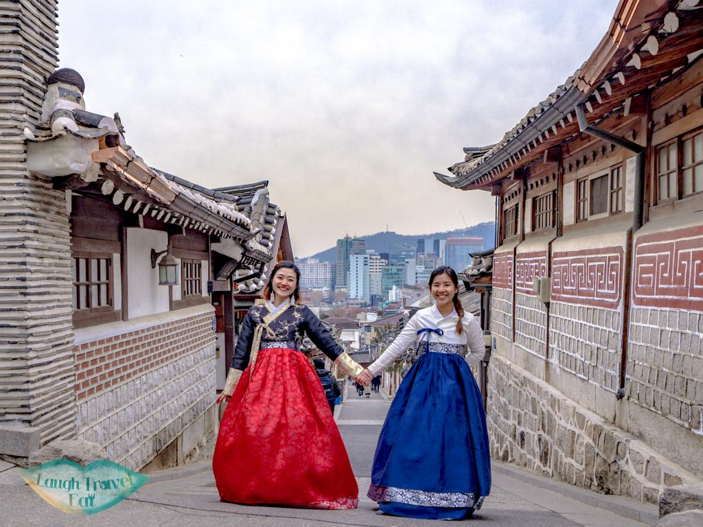 hanbok-at-hanbok-village-seoul-south-korea-laugh-travel-eat
