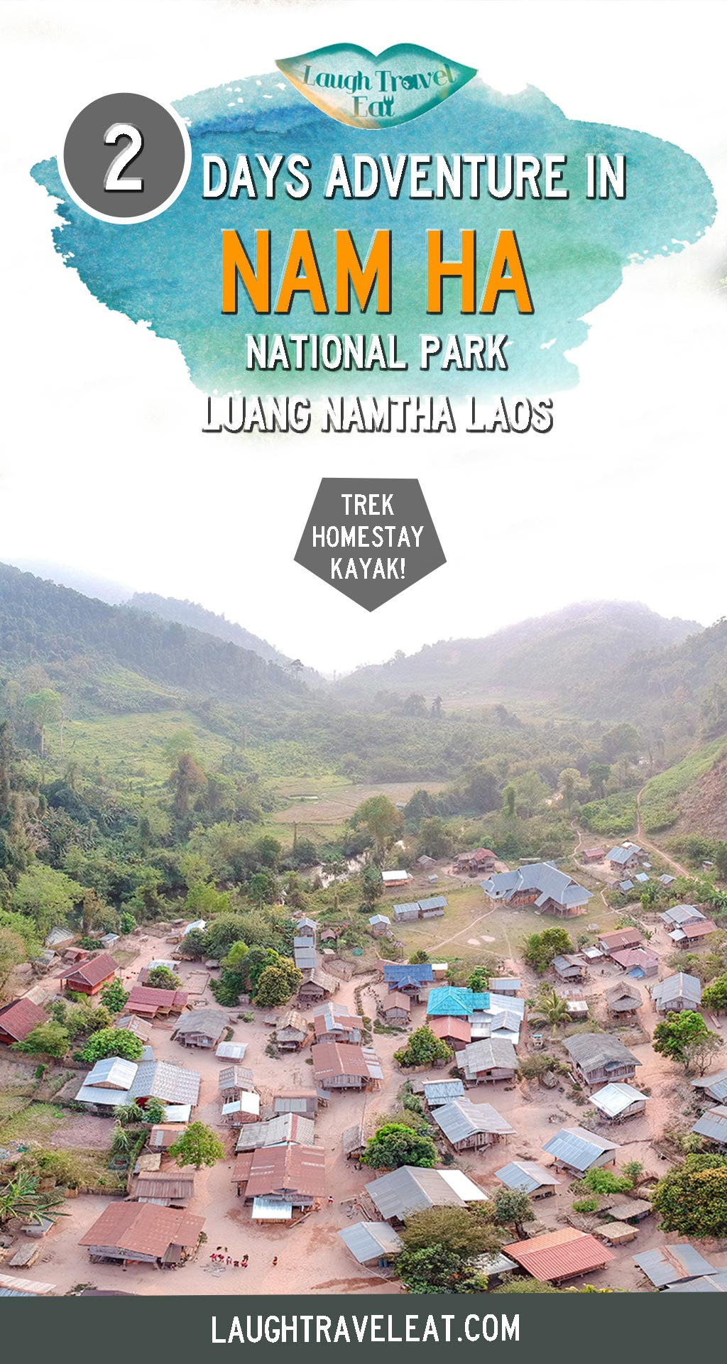 Nam Ha National Park in Luang Namtha province is one of the lesser discovered parts of nature in Laos. You can not only trek through it but also visit and stay at the ethnic villages as well as kayaking on the river! #Laos #LuangNamtha #NamHa #hike #nationalpark