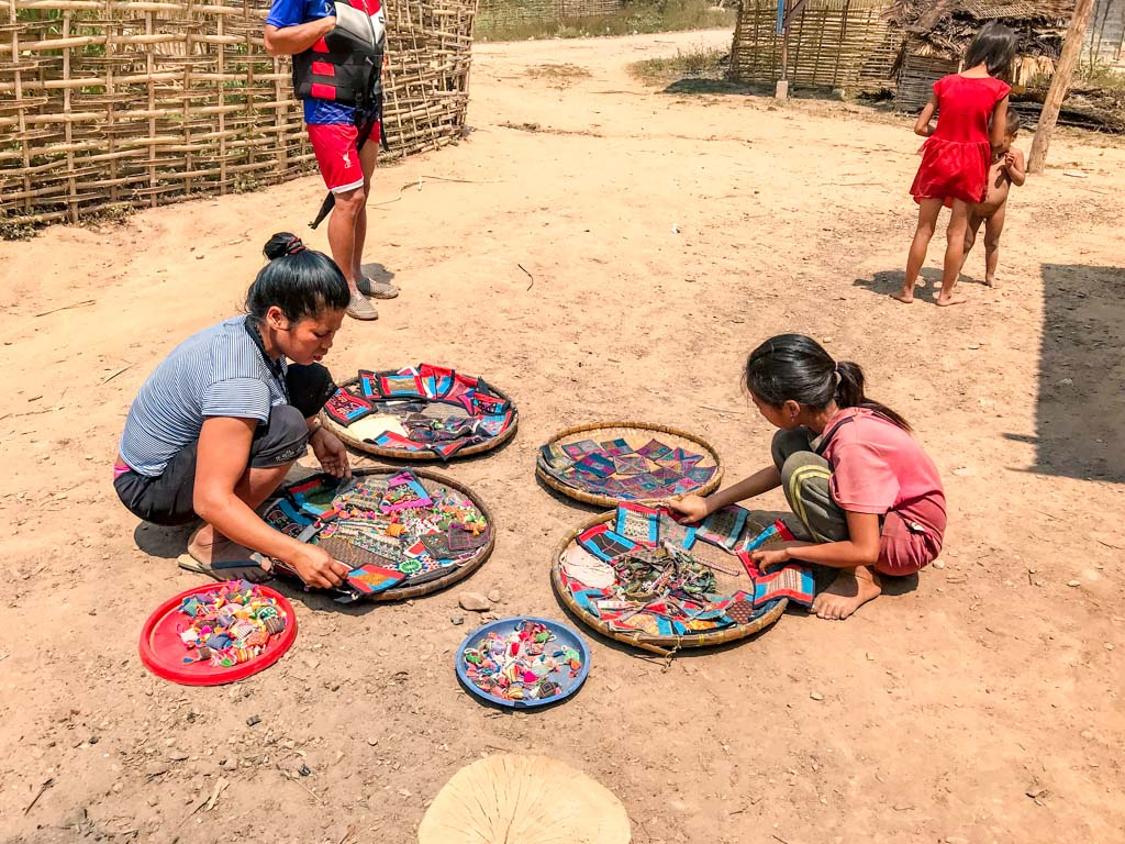 selling-handicraft-nam-koi-village-nam-ha-national-park-luang-namtha-laos-laugh-travel-eat