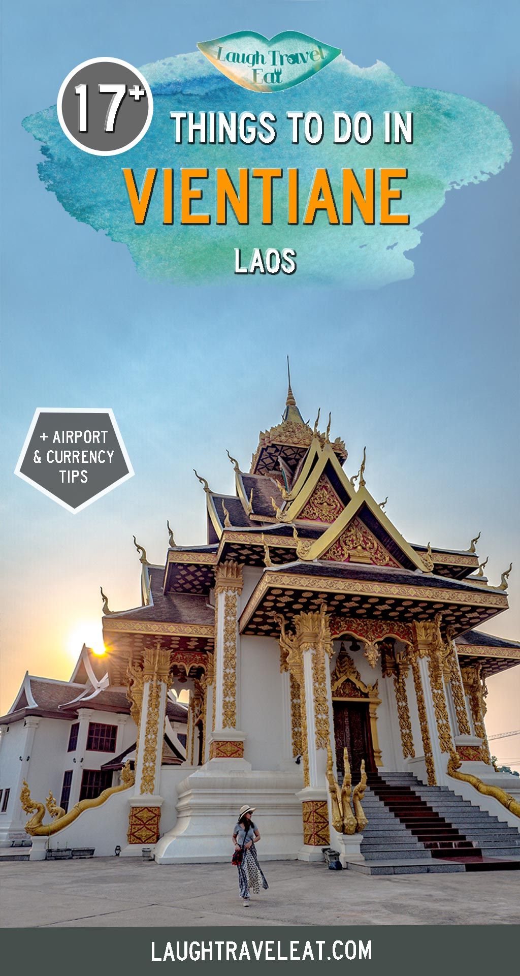 Vientiane is the capital of Laos and often considered to be a transit spot. But on closer inspection, you'll find many beautiful nooks and crannies hidden around town. Here are 17+ things to do and where to eat and stay #Vietiane #Laos #SEAsia #Asia