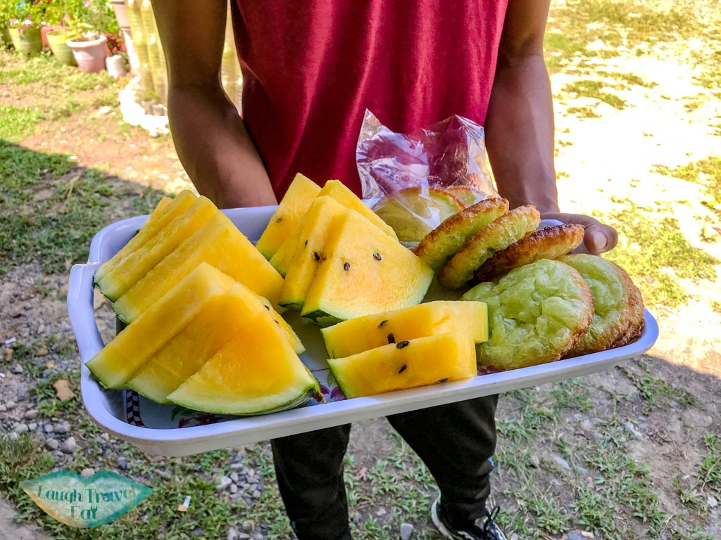 fruits-and-snacks-start-point-white-water-rafting-Kota-Kinabalu-kota-kinabalu-sabah-malaysia-laugh-travel-eat