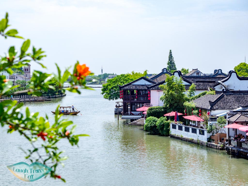 main canal zhujiajiao water town shanghai china laugh travel eat