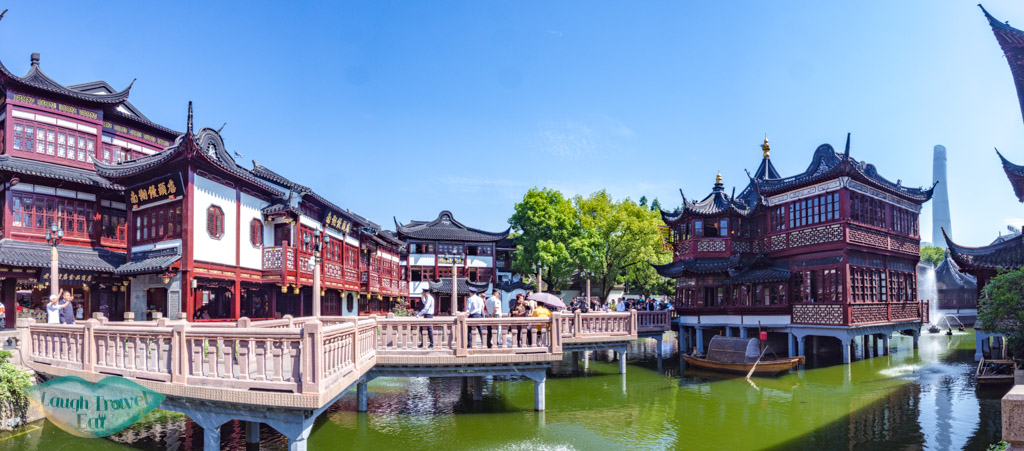 the bridge in yu garden shanghai china