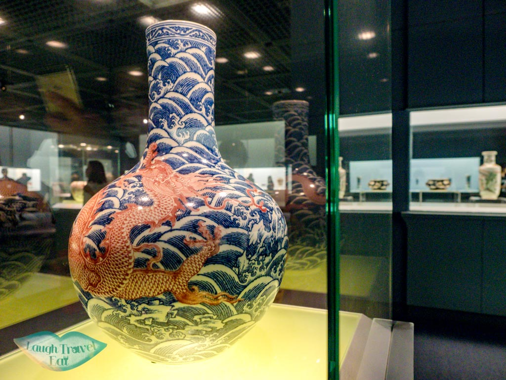Pottery and Porcelain exhibit at Shanghai Museum China