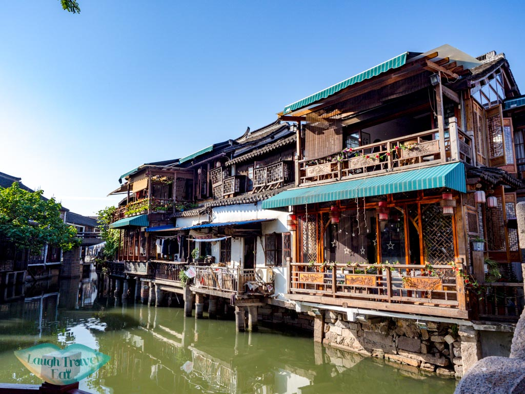 western part of canal zhujiajiao water town shanghai china