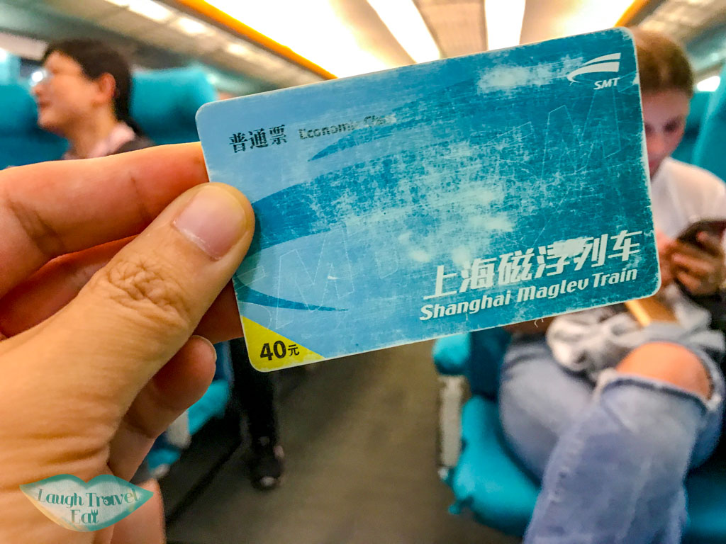maglev ticket shanghai china - laugh travel eat