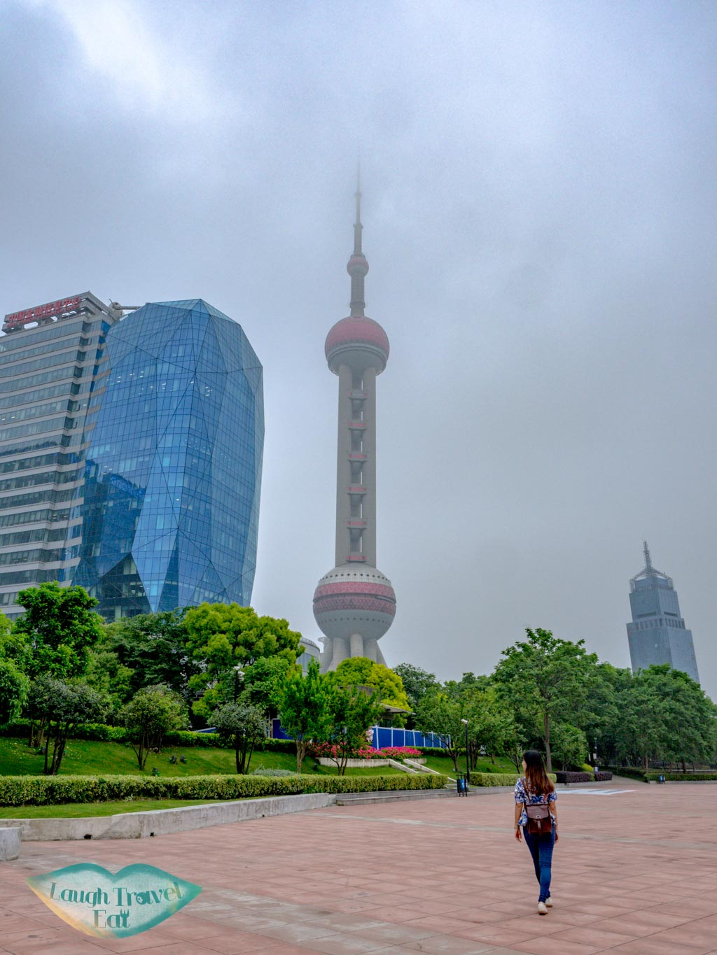 oriental pearl tower view Binjiang Avenue pudong shanghai china - laugh travel eat