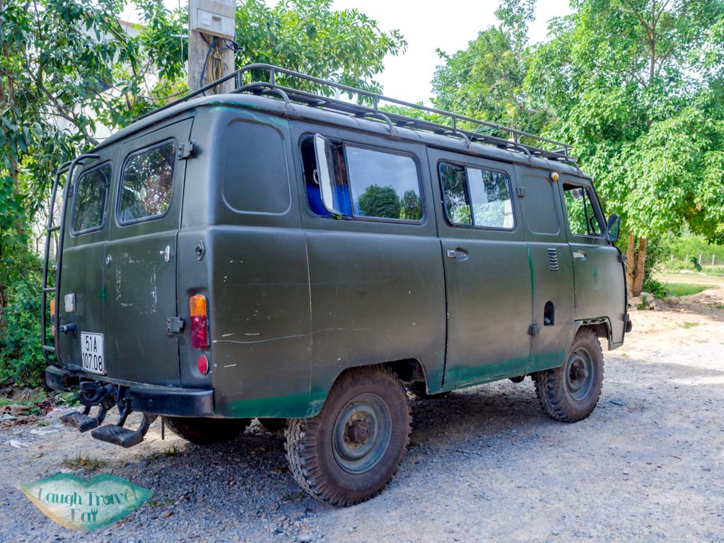 army jeep jungle boss headquarters phong nha vietnam - laugh travel eat