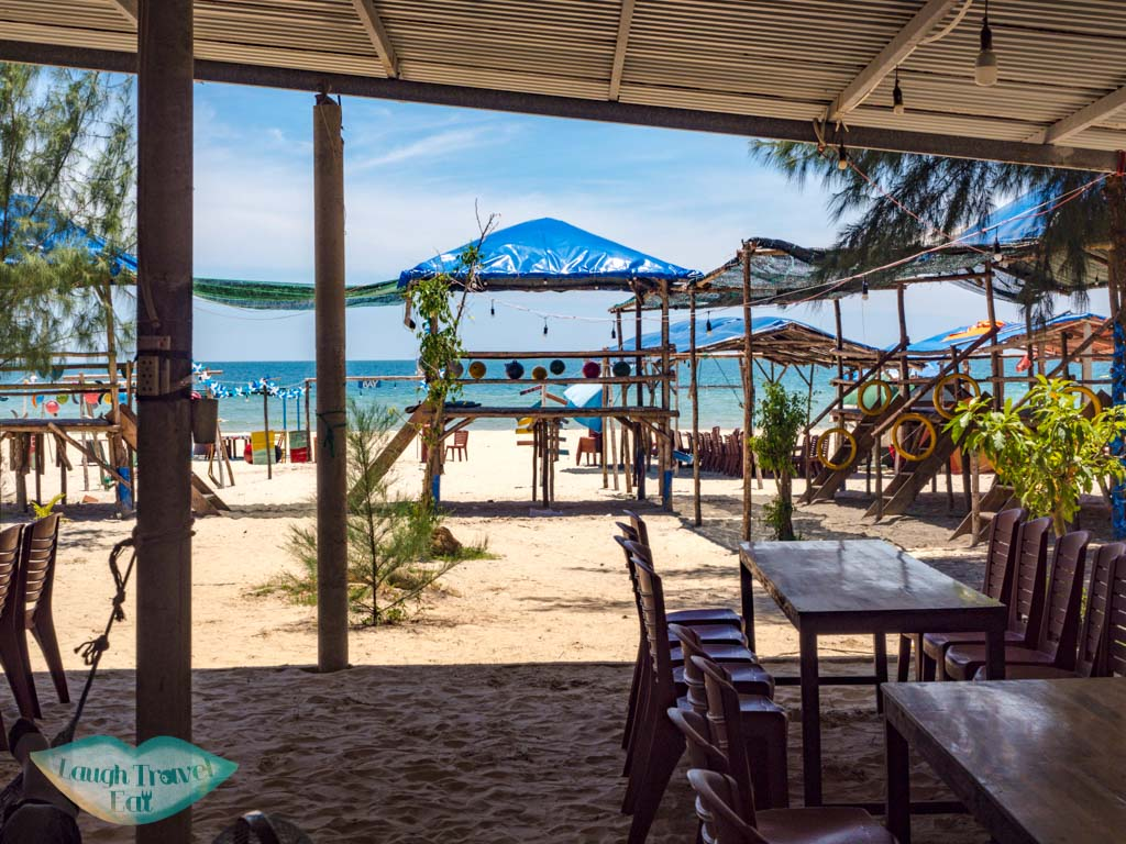 beachside restaurant lang co lagoon central vietnam - laugh travel eat