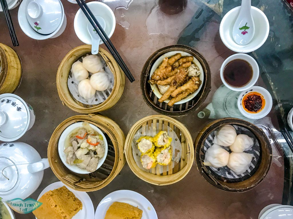 dim sum at Lin Heung Tea House sheung wan hong kong - laugh travel eat