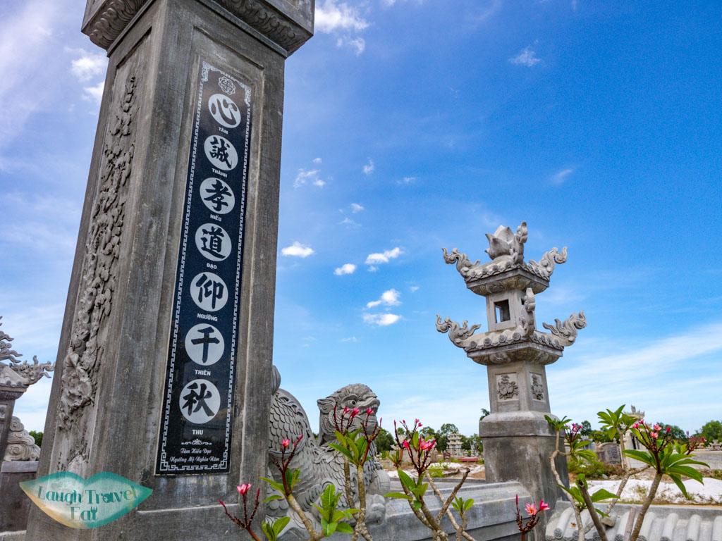 graveyard enroute to hue central vietnam - laugh travel eat