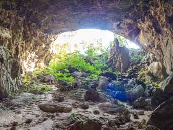 panorama turtle entrance elephant cave phong nha vietnam - laugh travel eat