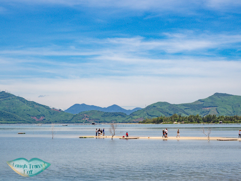 passing by lang co lagoon central vietnam - laugh travel eat