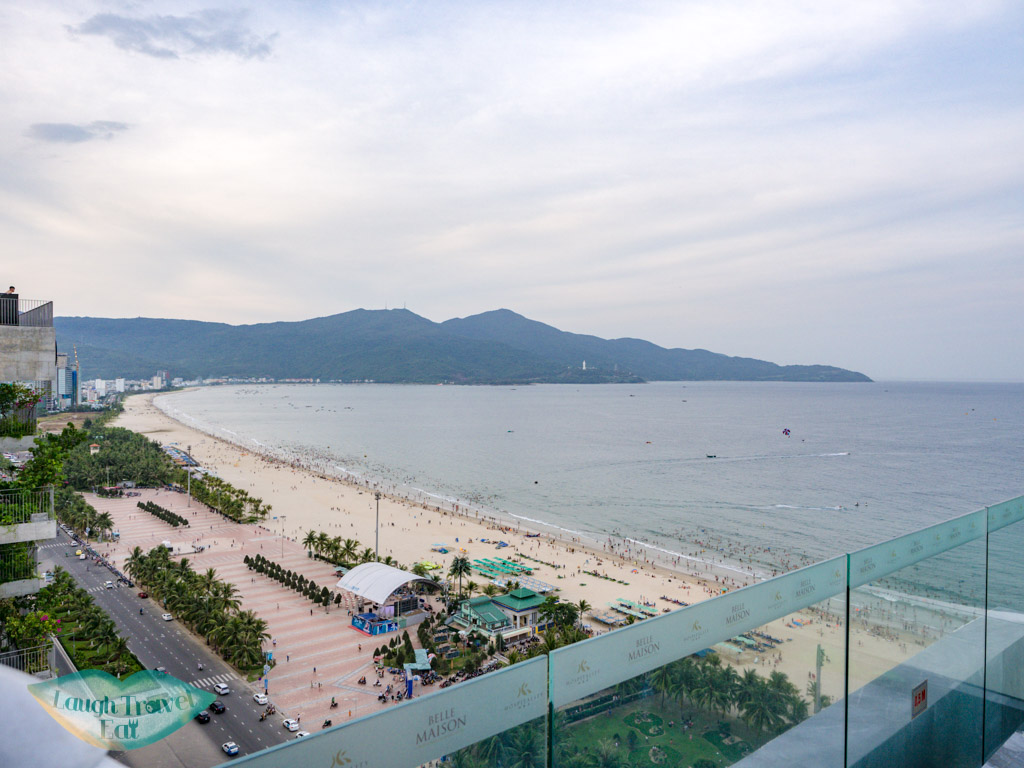 view of beach belle maison parosand danang vietnam - laugh travel eat