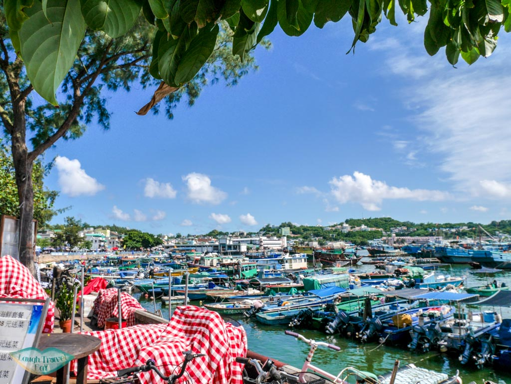 fishing boats at port Cheung Chau, Hong Kong - Laugh Travel Eat