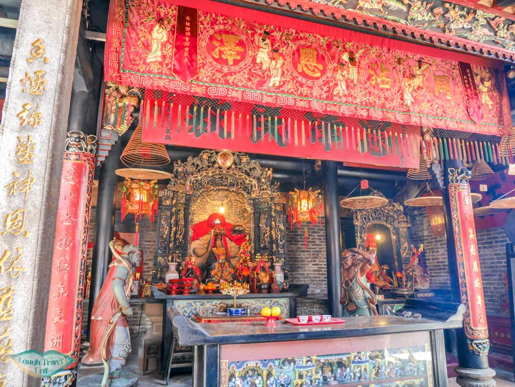 main area interior Yuk Hui Temple - Pak Tai Temple Cheung Chau, Hong Kong - Laugh Travel Ear