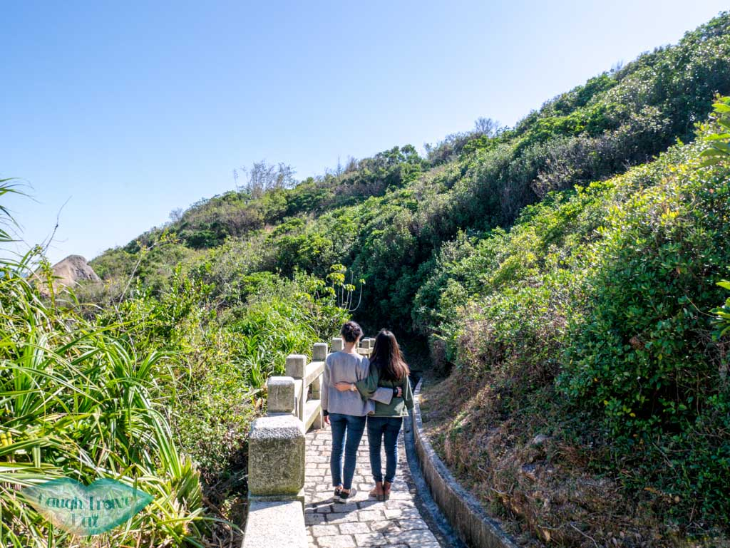 walking along mini great wall cheung chau hong kong - laugh travel eat