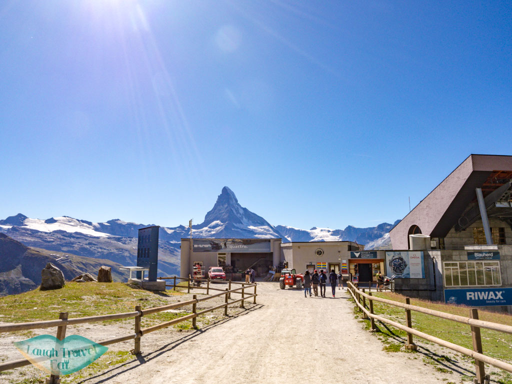 At blauherd station zermatt switzerland - laugh travel eat