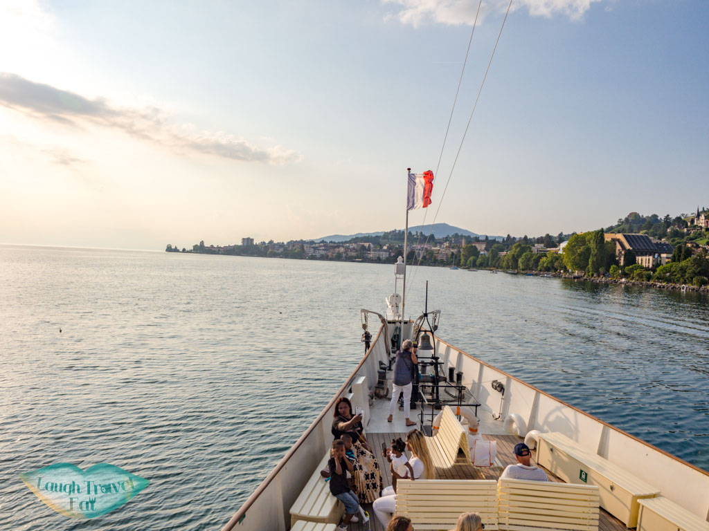CGN ferry along lake geneva switzerland - laugh travel eat