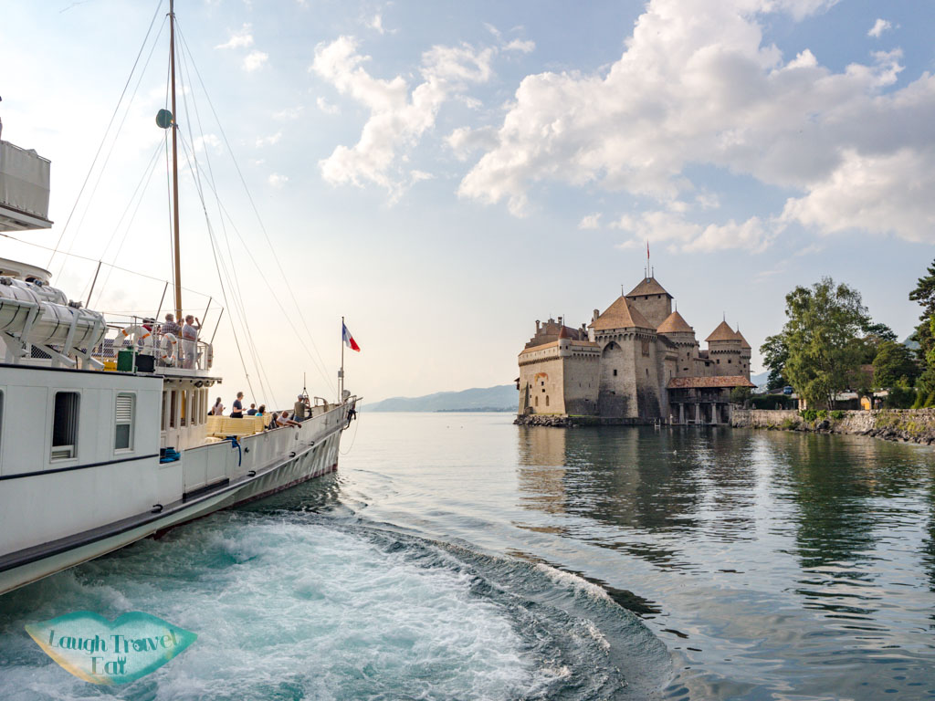 CGN ferry from chillon switzerland - laugh travel eat