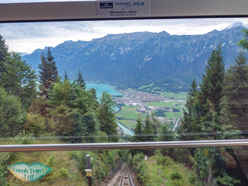 Harder Kulm ticket furnicular view interlaken switzerland - laugh travel eat