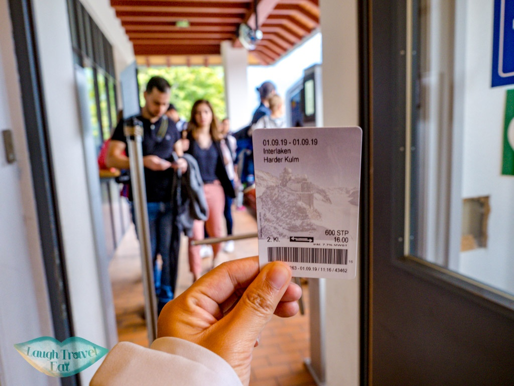 Harder Kulm ticket interlaken switzerland - laugh travel eat