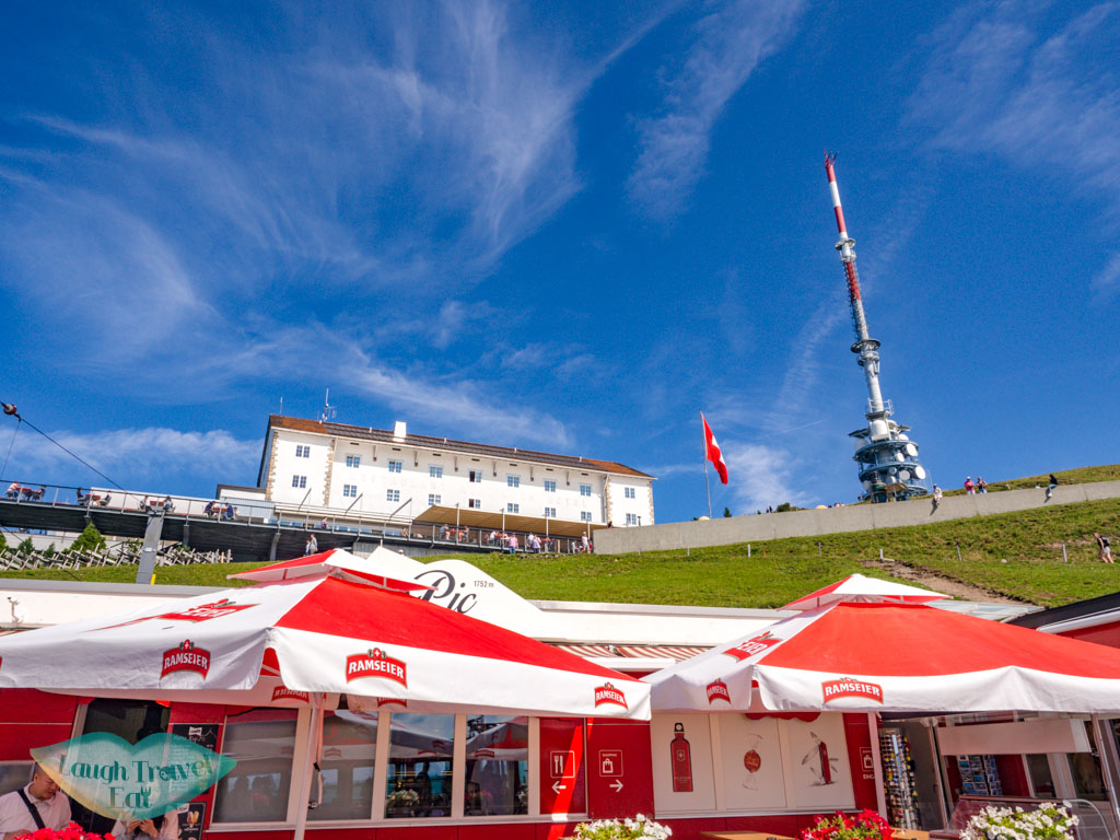 arriving rigi kulm lucerne switzerland - laugh travel eat
