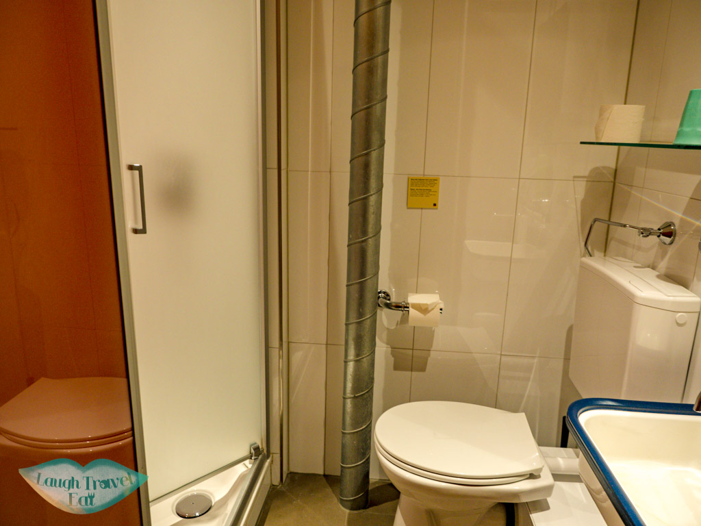 bathroom double room Barabas hostel lucerne switzerland - laugh travel eat